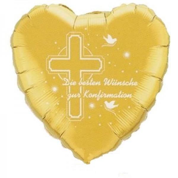 Die besten Wünsche zur Konfirmation Folienballon - 45cm gold