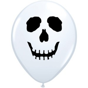 "Totenkopf 12,5cm 5"" Latex Luftballons Qualatex"