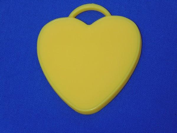 Luftballon Gewicht Herz-förmig in gelb