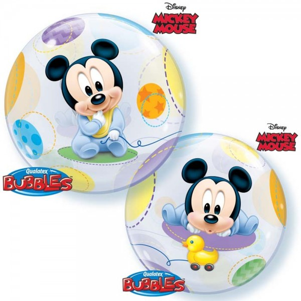 "Qualatex Bubble Mickey Maus Baby 22"" 56cm Luftballon"