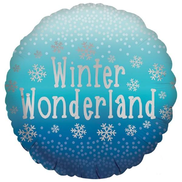 Winter Wonderland - Snowflakes - Folienballon 18 in / 45cm