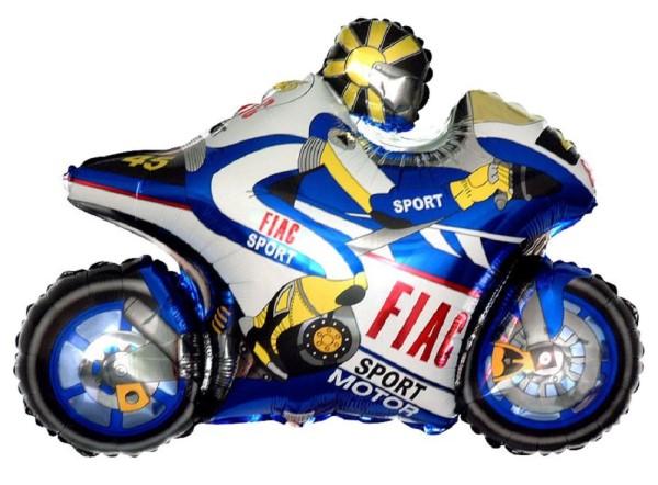 Motorrad Rennmaschine Folienballon - 98 x 73cm