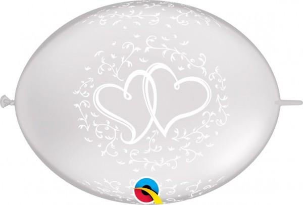 "QuickLink Entwined Hearts (verschlungene Herzen) 30cm 12"" Latex Luftballons Qualatex"