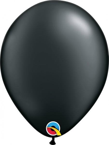"Qualatex Pearl Onyx Black (Schwarz) 27,5cm 11"" Latex Luftballons"