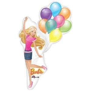 Barbie mit Luftballons Folienballon - 117cm