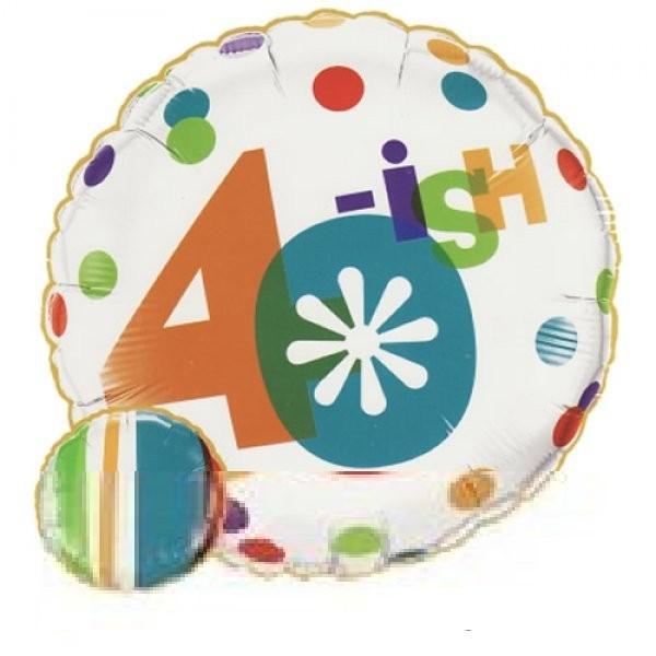 40.Geburtstag Folienballon - 45cm