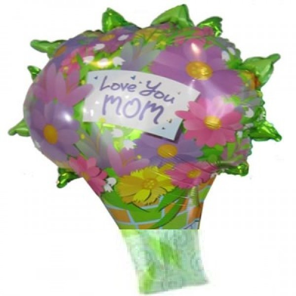 Love you MOM - Blumen Bouquet - 68 cm