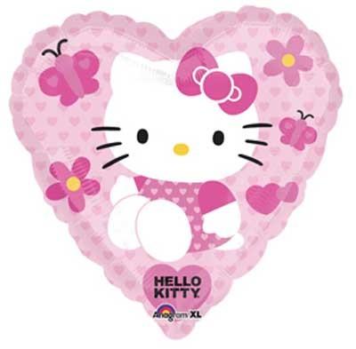 Hello Kitty Folienballon Herz Love