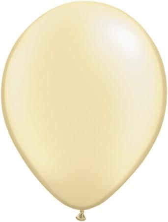 "Qualatex Pearl Ivory (Elfenbein) 12,5cm 5"" Latex Luftballons"