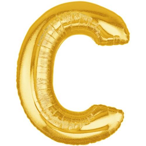 Buchstaben C gold Folienballon