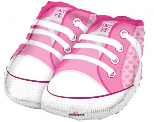 Baby Girl Sneakers Babyschuhe rosa Folienballon - 88cm