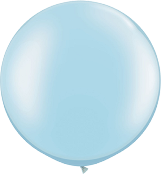"Qualatex Pearl Light Blue (Blau) 75cm 30"" Latex Luftballons"