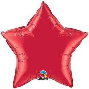 Stern Ruby Red Folienballon - 50cm - Qualatex