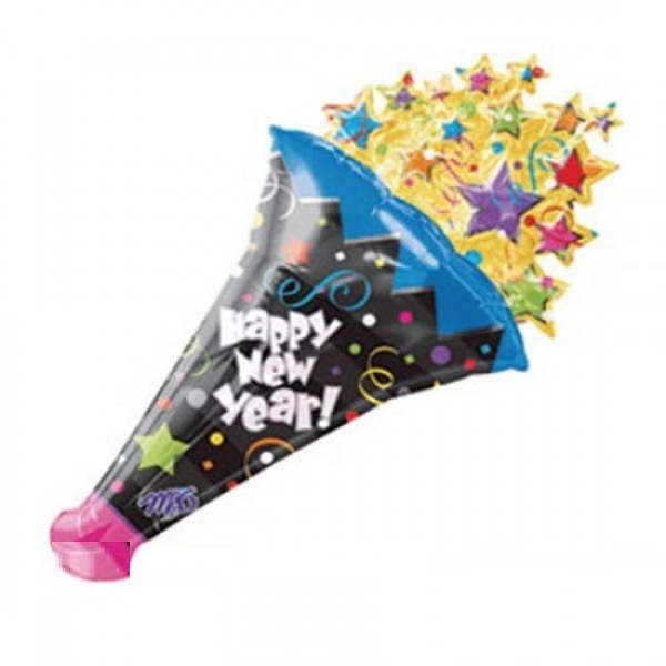 Party Horn - Happy New Year Folienballon - 127cm