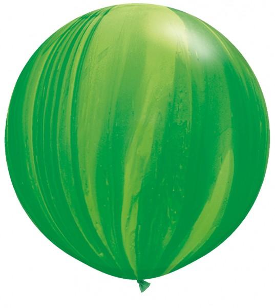 Riesenluftballon Green (Grün) SuperAgate Latex Ballons 75cm