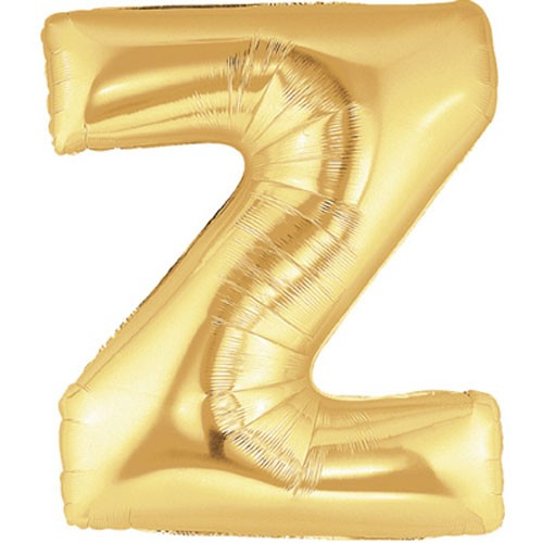 Buchstaben Z gold Folienballon
