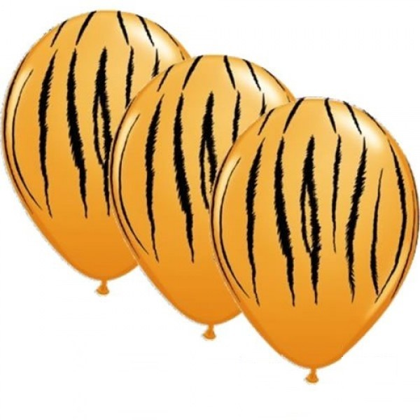 "Tierdruck Tiger 27,5cm 11"" Latex Luftballons Qualatex"