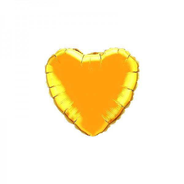 Folienballon Herz Gold - 45cm