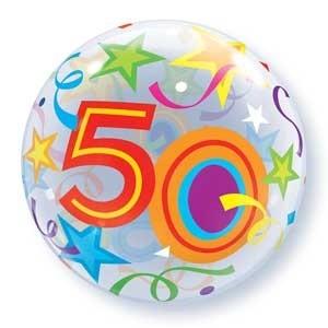 """Qualatex Bubble Brilliant Stars 50 22"""" 56cm Luftballon"""