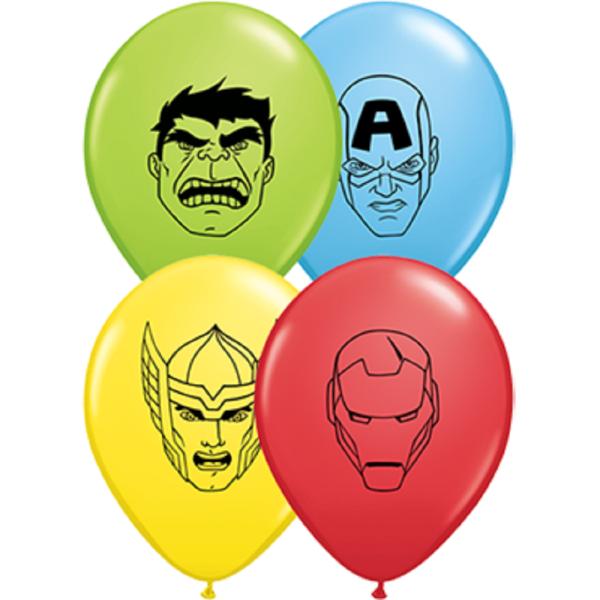 "Marvel's Avengers Assemble 12,5cm 5"" Latex Luftballons Qualatex"
