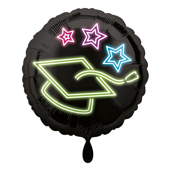 Master Abschluss Doktor Hut Neon Grad Folienballon - 45cm 18''