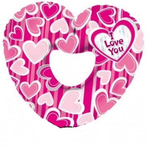 Folienballon Pink Herz Folienballon - 91cm