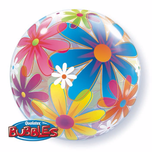 Qualatex Bubbles Luftballons 'Flowers' Blumen Deko - 55cm