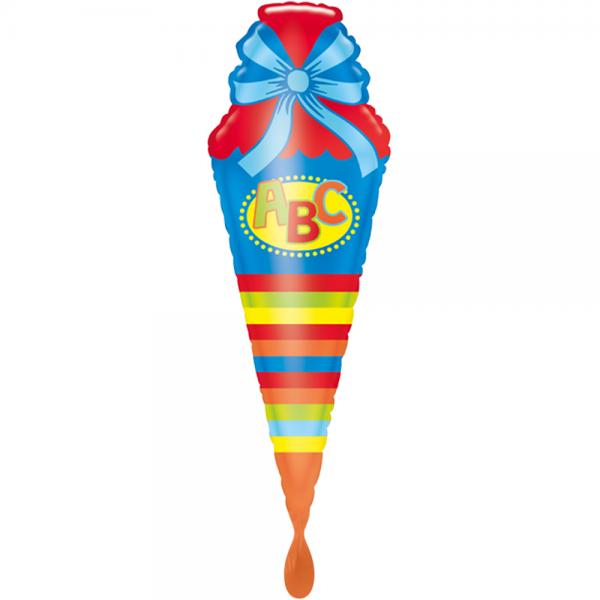 Schultüte Blau Folienballon 111cm 43''