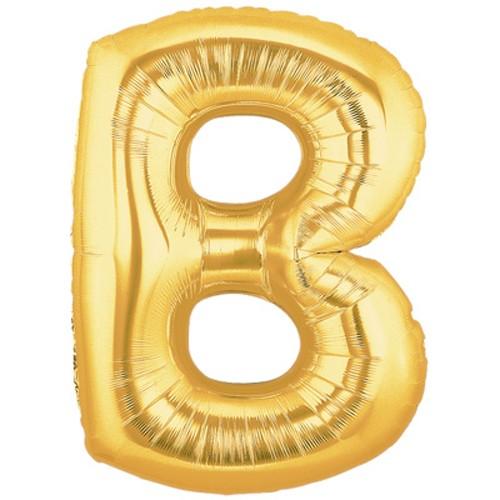Buchstaben B gold Folienballon - 101cm