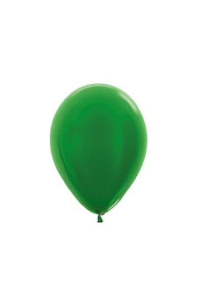 "Sempertex 530 Metallic Green 12,5cm 5"" Latex Luftballons"