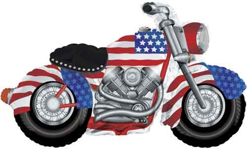 Harley Davidson American Style Motorrad Folienballon - 114cm