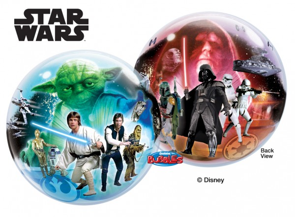 "Qualatex Bubble Star Wars 22"" 56cm Luftballon"