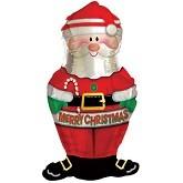 Mini Folienballon Weihnachtsmann Nikolaus - 30cm