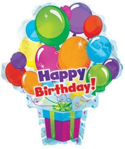 Herzlichen Glückwunsch Überraschung mit Ballons Happy Birthday Surprise - 53cm