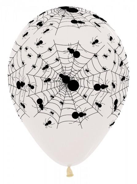 "Spiderweb Crystal Clear 30cm 12"" Latex Luftballons Sempertex"