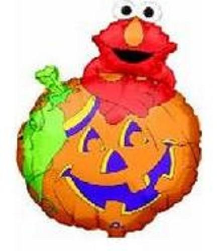 "Elmo on Pumpkin Sesamstraße Folienballon - 61cm 24"""