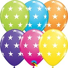 "Big Stars Tropical Sortiment 27,5cm 11"" Latex Luftballons Qualatex"