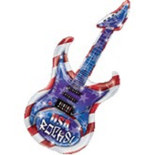 Gitarre USA Rocks Guitar Folienballon - 104cm 41''