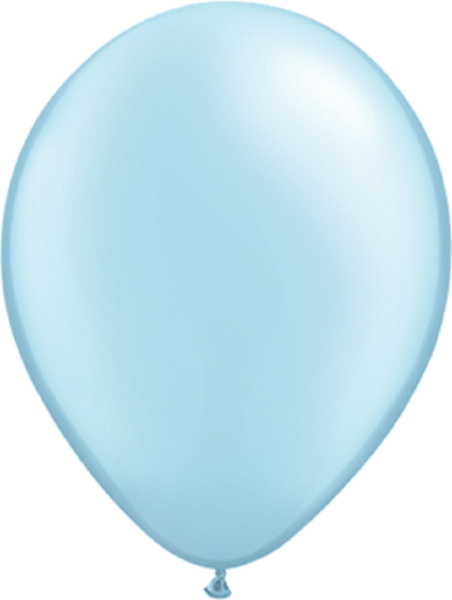 "Qualatex Pearl Light Blue (Blau) 40cm 16"" Latex Luftballons"