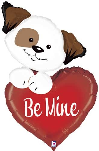 Be mine Puppy / Liebe Folienballon - 101cm