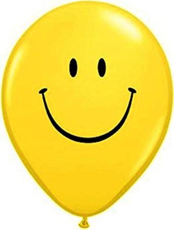 "Smiley Face Yellow 12,5cm 5"" Latex Luftballons Qualatex"