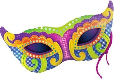 Karneval Maske (Mardi Gras Mask) Folienballon - 97cm