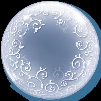 """Qualatex Deco Bubble Fancy Filigree 24"""" 61cm Luftballon"""
