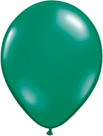 "Qualatex Jewel Emerald Green (Smaragdgrün) 27,5cm 11"" Latex Luftballons"