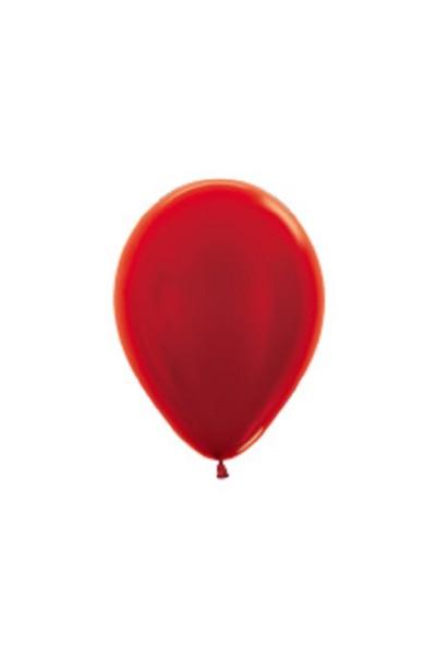 "Sempertex 515 Metallic Red (Rot) 12,5cm 5"" Latex Luftballons"