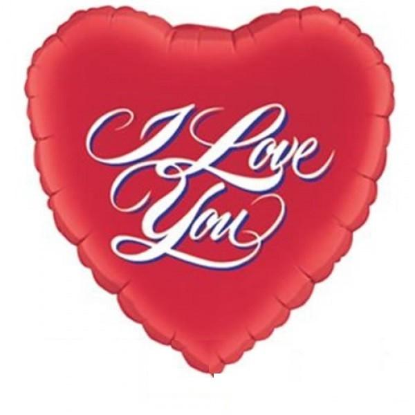 "Folienballon Jumbo Herz mit Text "" I love you """