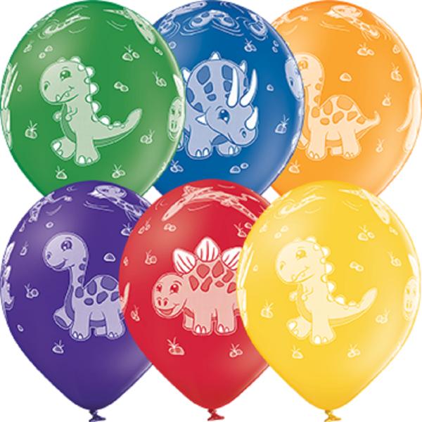 "Dinosaurier Pastel Sortiment 30cm 12"" Latex Luftballons Belbal"