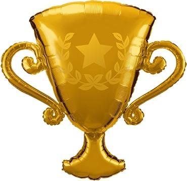 Folienballon Golden Trophy - 99 cm