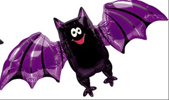 Fledermaus Halloween Folienballon - 112cm