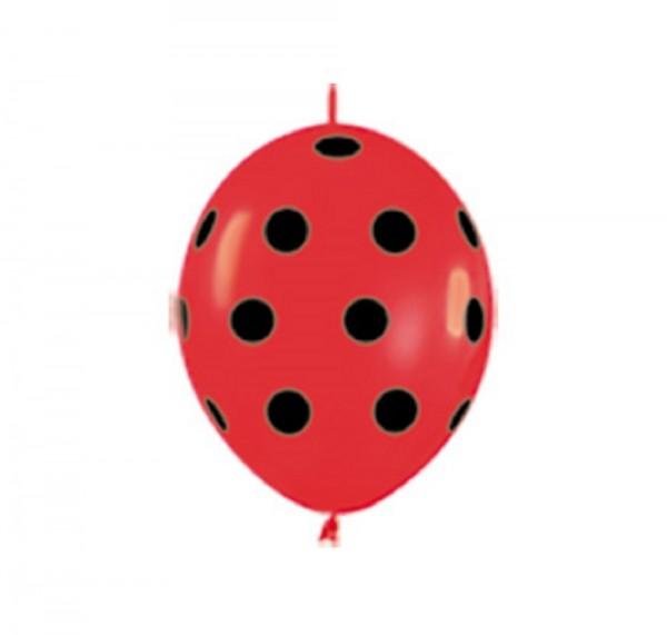 """Link o Loon Lady Bug 15cm 6"""" Latex Luftballons Sempertex"""